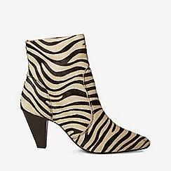Dorothy Perkins - Multi coloured zebra design leather attitude ankle boots