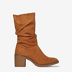 Dorothy Perkins - Tan kelis ruched calf boots