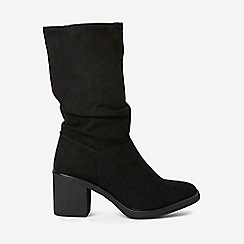 Dorothy Perkins - Black kelis ruched calf boots