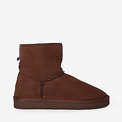 Dorothy Perkins - Chocolate minty fur boots