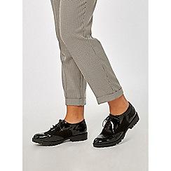 Dorothy Perkins - Black patent lexi brogue shoes