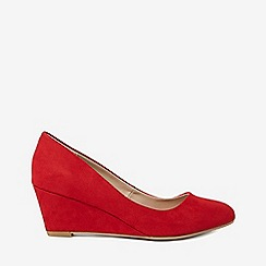 Dorothy Perkins - Red microfibre dream court shoes