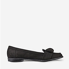 Dorothy Perkins - Black Microfibre Leah Bow Loafers