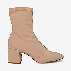 Dorothy Perkins - Nude ava sock boots