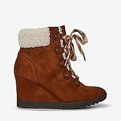 Dorothy Perkins - Tan aphex wedge boots