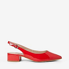 Dorothy Perkins - Red Daphne Block Heel Court Sandals