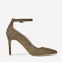 Dorothy Perkins - Khaki Microfibre Dolly Point Court Shoes