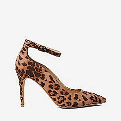 Dorothy Perkins - Leopard print microfibre dolly court shoes