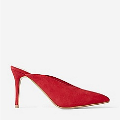 Dorothy Perkins - Red Microfibre Devon Mule Sandals