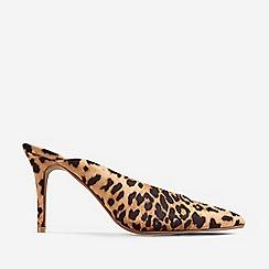 Dorothy Perkins - Leopard Print Microfibre Devon Mule Sandals