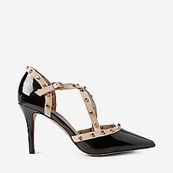 Dorothy Perkins - Black Polyurethane Gemalina Court Shoes
