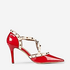 Dorothy Perkins - Red Polyurethane Gemalina Court Shoes