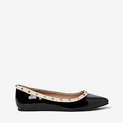 Dorothy Perkins - Patent polyurethane holly stud flat pumps