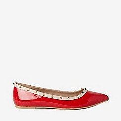 Dorothy Perkins - Red Polyurethane Holly Studded Pumps