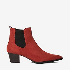 Dorothy Perkins - Rust mayfair ankle boots