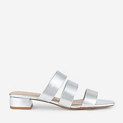 Dorothy Perkins - White Glitter Inez Sandals