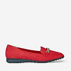 Dorothy Perkins - Red Link Chain Loafers