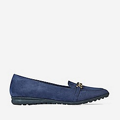 Dorothy Perkins - Navy Link Chain Loafers