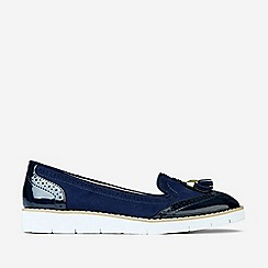 Dorothy Perkins - Navy Microfibre Lorretta Loafers