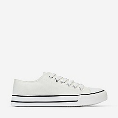 Dorothy Perkins - White Icon Canvas Trainers