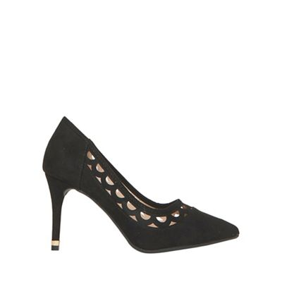 Dorothy Perkins - Black glaze cut out court shoes