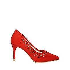 Dorothy Perkins - Red glaze cut out heel court shoes