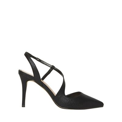 Dorothy Perkins   Black Pu Granite Court Shoes by Dorothy Perkins