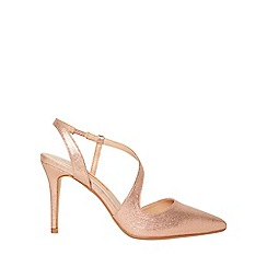 Dorothy Perkins - Gold polyurethane granite heel court shoes