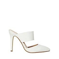 Dorothy Perkins - White polyurethane georgia court shoes