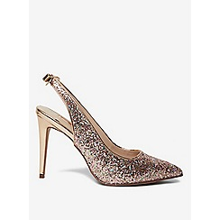 Dorothy Perkins - Pink glitz slingback court shoes
