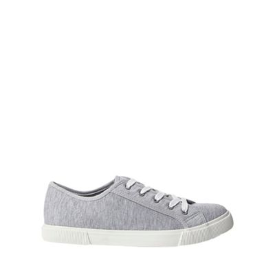Dorothy Perkins - Grey iggy lace up trainers