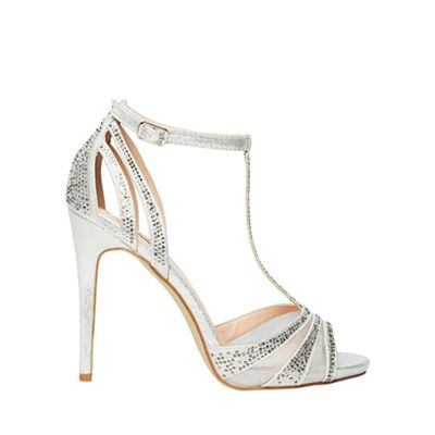 Dorothy Perkins - Showcase silver skye heeled sandals