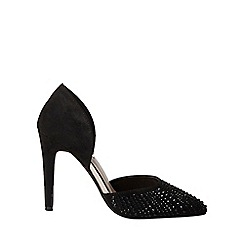 Dorothy Perkins - Showcase black sax court shoes