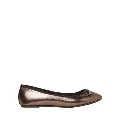 Dorothy Perkins - Grey pewter glitter pandora pumps