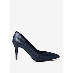Dorothy Perkins - Blue textured enzo court shoes