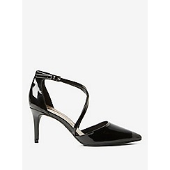 Dorothy Perkins - Black patent elsa court shoes