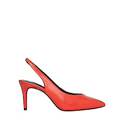 Dorothy Perkins - Red essie 80s court shoes