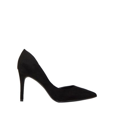Dorothy Perkins - Black microfiber esther court shoes