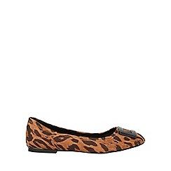Dorothy Perkins - Leopard microfibre portia ballerina pumps