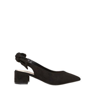 Dorothy Perkins - Black gossip bow slingback court shoes