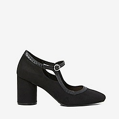 Dorothy Perkins - Black microfibre glory court shoes