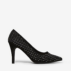 Dorothy Perkins - Black microfiber gracie embellished court shoes