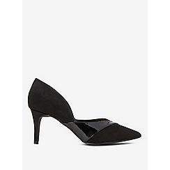 Dorothy Perkins - Black grande textured court shoes