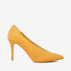 Dorothy Perkins - Yellow microfiber gatsby court shoes