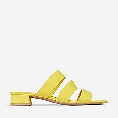 Dorothy Perkins - Yellow Stormy Multi Strap Mules