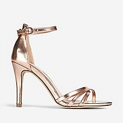 Dorothy Perkins - Tallic Samba Stiletto Heel Sandals