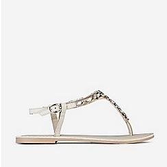 Dorothy Perkins - White Leather Florentina Sandals