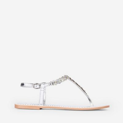 Dorothy Perkins   Silver Leather Fjorde Sandals by Dorothy Perkins