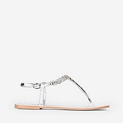Dorothy Perkins - Silver Leather Fjorde Sandals