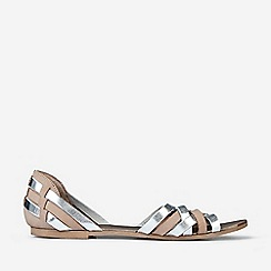 Dorothy Perkins - Blush Leather Jinx Woven Sandals